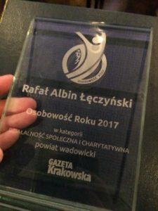 Nagroda dla Rafała Łęczyńskiego - Osobowość Roku 2017
