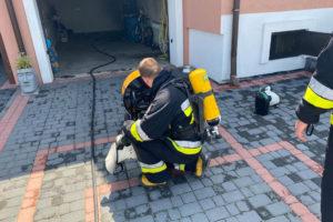 Wybuchł piec w kotłowi na jednej z posesji w Stanisławiu Dolnym