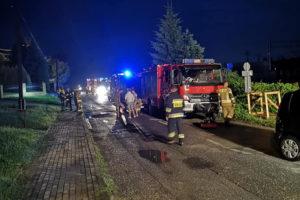 Gmina Kalwaria Zebrzydowska ucierpiała w nocnej nawałnicy, ewakuowano mieszkańców, w Łaśnicy (Lanckorona) znów osunęła się ziemia