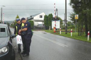Akcja Bezpieczny przejazd na ul. św. Floriana w Kalwarii Zebrzydowskiej